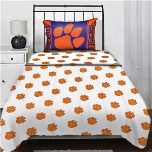 Northwest NCAA Clemson Univ. Twin Sheet Set