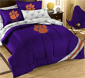 Northwest NCAA Clemson Univ. Full Bed in Bag Set
