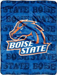 Northwest NCAA Boise State Grunge Raschel Throw