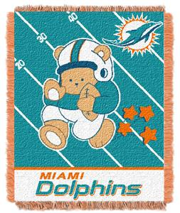Northwest NFL Miami Dolphins Baby Throws