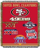 "Northwest NFL San Francisco 49ers 48""x60"" Throws"