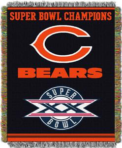 "Northwest NFL Chicago Bears 48""x60"" Throws"