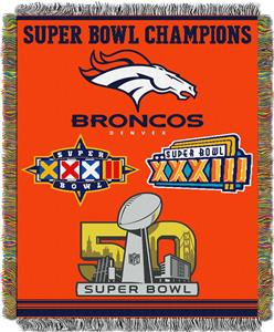 "Northwest NFL Denver Broncos 48""x60"" Throws"