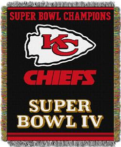 "Northwest NFL Kansas City Chiefs 48""x60"" Throws"
