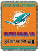 "Northwest NFL Miami Dolphins 48""x60"" Throws"