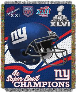 "Northwest NFL New York Giants 48""x60"" Throws"