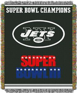 "Northwest NFL New York Jets 48""x60"" Throws"