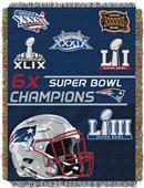 "Northwest NFL New England Patriots 48""x60"" Throws"