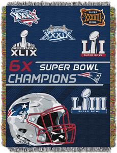 "Northwest NFL New England Patriots 48""x60"" Throws"