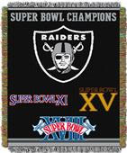 "Northwest NFL Oakland Raiders 48""x60"" Throws"