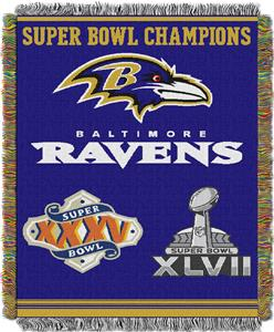 "Northwest NFL Baltimore Ravens 48""x60"" Throws"
