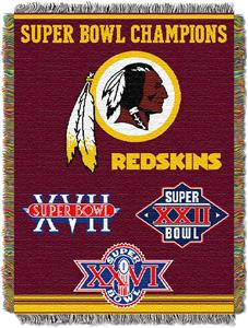 "Northwest NFL Washington Redskins 48""x60"" Throws"