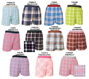 Womens Shorts boxer sleepwear plaid flannel gifts - Soccer ...