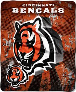 Northwest NFL Cincinnati Bengals Grunge Throws