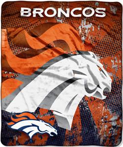 Northwest NFL Denver Broncos Grunge Throws