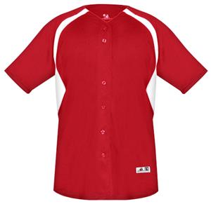 Badger Cycle Full Button Baseball Jerseys-Closeout