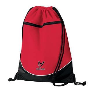 High Five Nylon Drawstring Backpacks