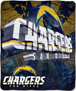 Northwest NFL San Diego Chargers Grunge Throws