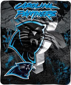 Northwest NFL Carolina Panthers Grunge Throws