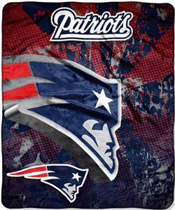 Northwest NFL New England Patriots Grunge Throws
