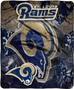 Northwest NFL St. Louis Rams Grunge Throws
