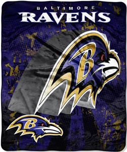 Northwest NFL Baltimore Ravens Grunge Throws