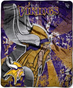 Northwest NFL Minnesota Vikings Grunge Throws