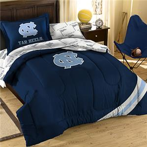 Northwest NCAA North Carolina Twin Bed in Bag Set