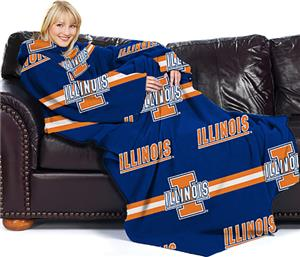 Northwest NCAA Illinois Comfy Throw (Stripes)
