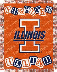 Northwest NCAA University of Illinois Baby Throw