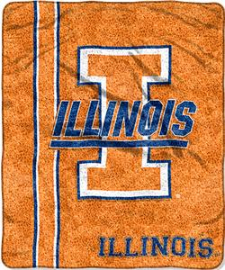 Northwest NCAA Illinois Jersey Sherpa Throw