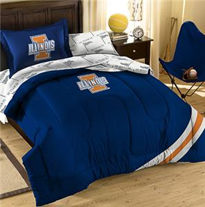 Northwest NCAA Illinois Twin Bed in Bag Set