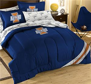 Northwest NCAA Illinois Full Bed in Bag Set