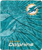 Northwest NFL Dolphins Strobe Sherpa Throw