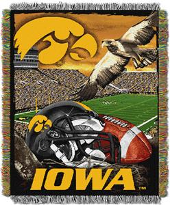 Northwest NCAA Univ. of Iowa HFA Tapestry Throw