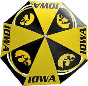 Northwest NCAA University of Iowa Beach Umbrella