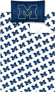 Northwest NCAA Univ. of Michigan Twin Sheet Set