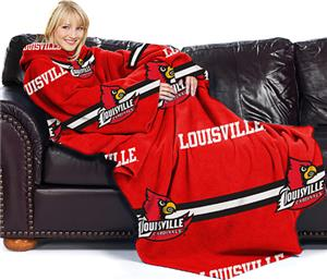 Northwest NCAA Louisville Comfy Throw (Stripes)