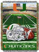 Northwest NCAA Univ. of Miami HFA Tapestry Throw