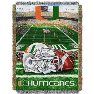 Northwest NCAA Univ. of Miami HFA Tapestry Throw