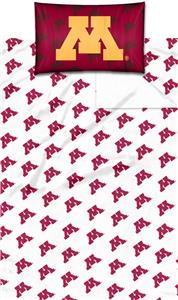 Northwest NCAA Minnesota Univ. Twin Sheet Set