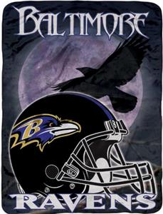 "Northwest NFL Baltimore Ravens 60""x80"" Throws"