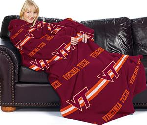 Northwest NCAA Virginia Tech Comfy Throw (Stripes)