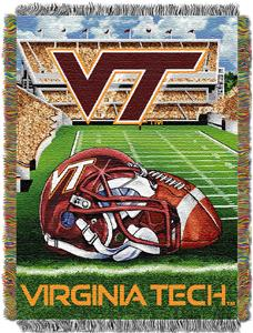Northwest NCAA Virginia Tech HFA Tapestry Throw