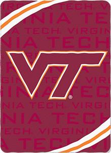 Northwest NCAA Virginia Tech Fleece Force Throw