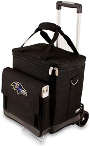 Picnic Time NFL Baltimore Ravens Cellar w/Trolley