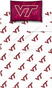 Northwest NCAA Virginia Tech Twin Sheet Set
