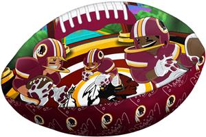 Northwest NFL Washington Redskins Football Pillows