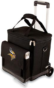 Picnic Time NFL Minnesota Vikings Cellar w/Trolley
