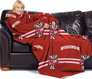 Northwest NCAA Wisconsin Comfy Throw (Stripes)